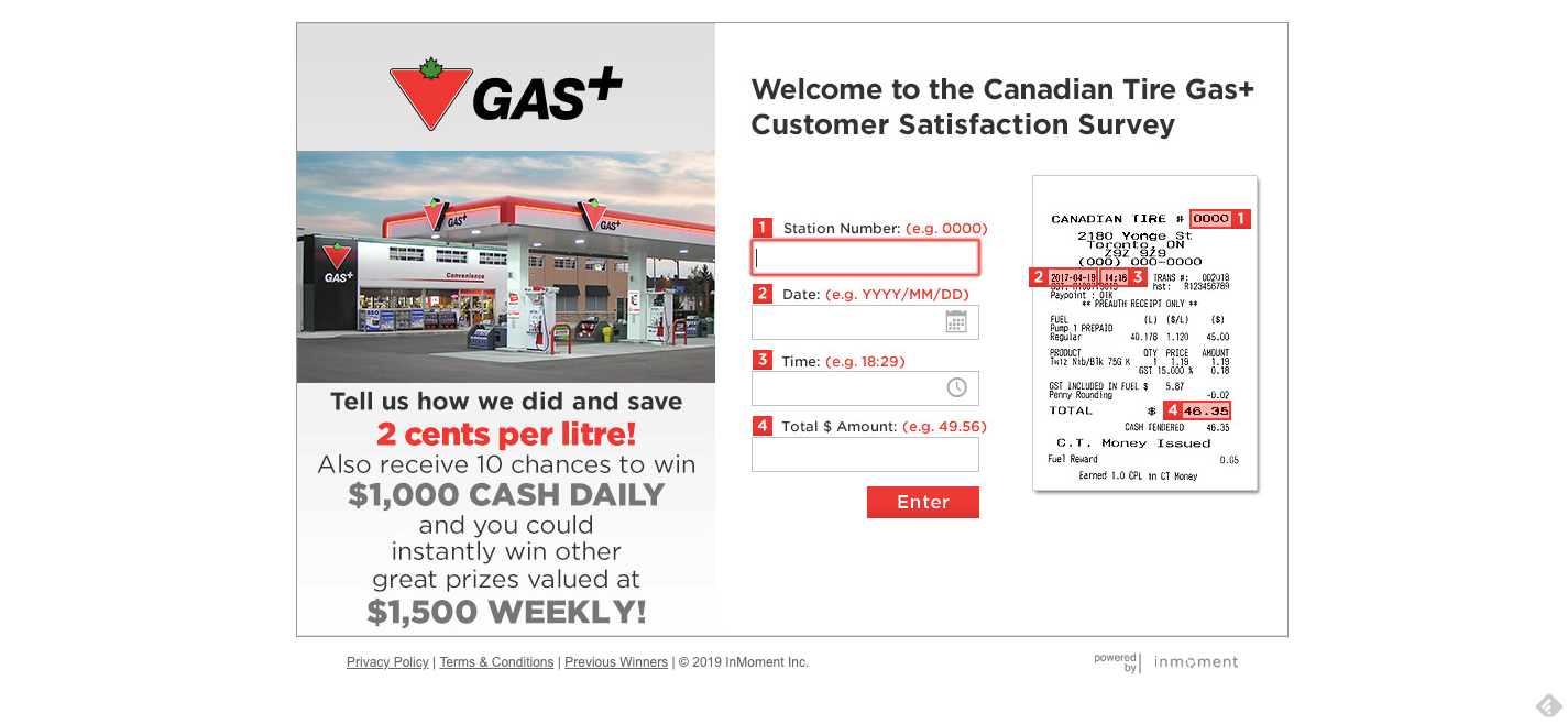 Canadian Tire Gas plus Survey