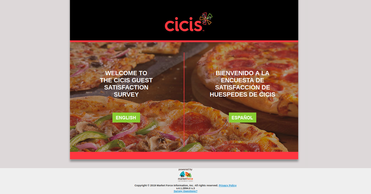 Cicis Guest Satisfaction Survey