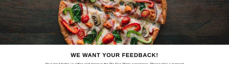 Survey Pie Five Pizza Logo