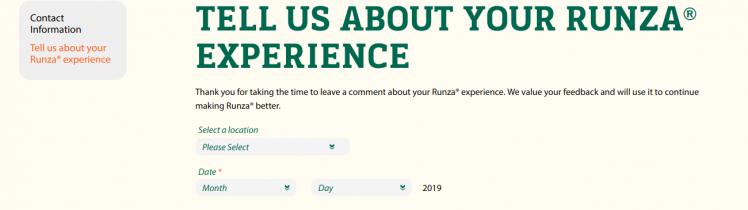 Survey Runza Logo
