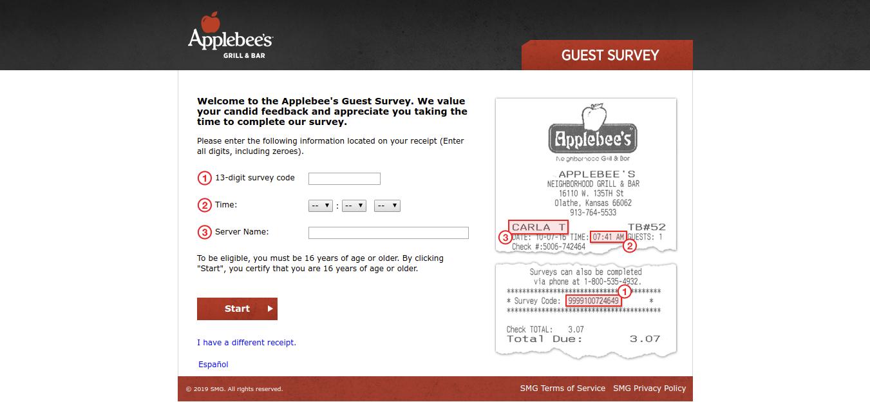 Applebee s Guest Survey Welcome