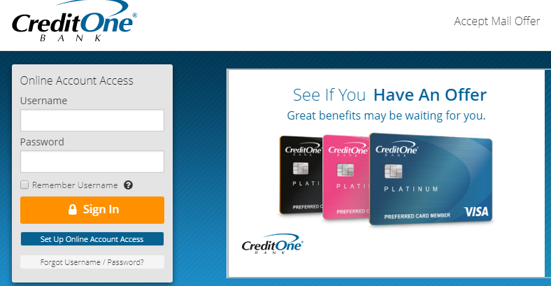 credit one bank po box 60500 city of industry ca 91716