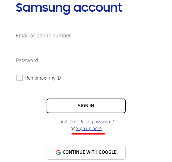 How to Create Samsung Mobile account