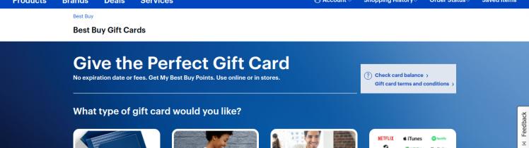 Best Buy Gift Card Logo