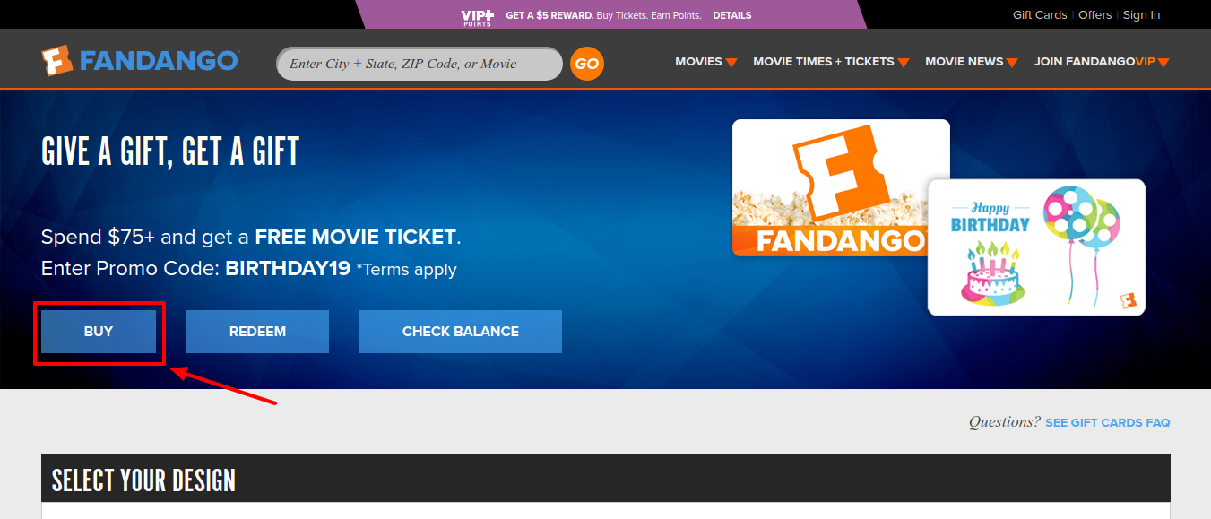 Fandango Gift Cards Buy
