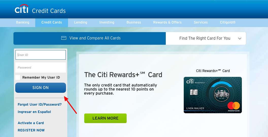 Citi Credit Cards Sign In