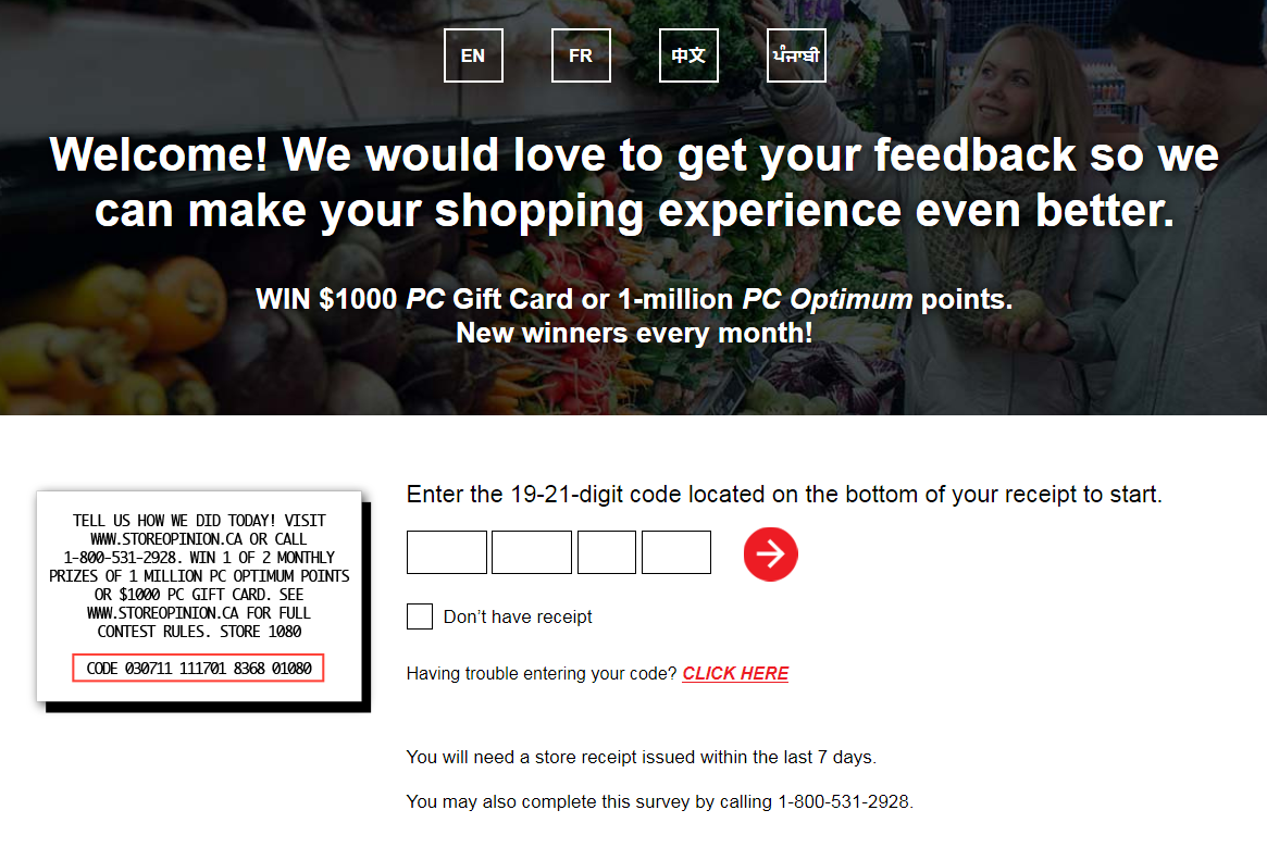 StoreOpinion Survey To Win $1,000 PC Gift Card