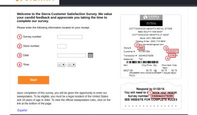 Sierra Customer Satisfaction Survey
