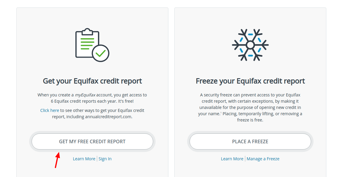 Equifax Get Free credit Report