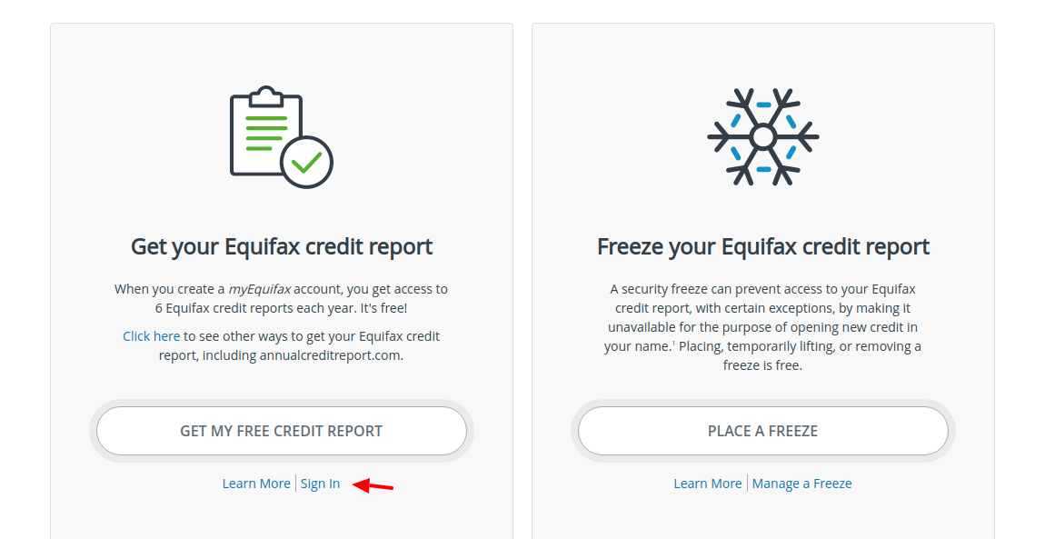 Equifax Sign In