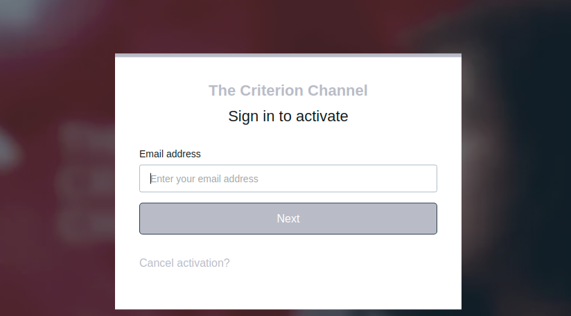 The Criterion Channel Activate