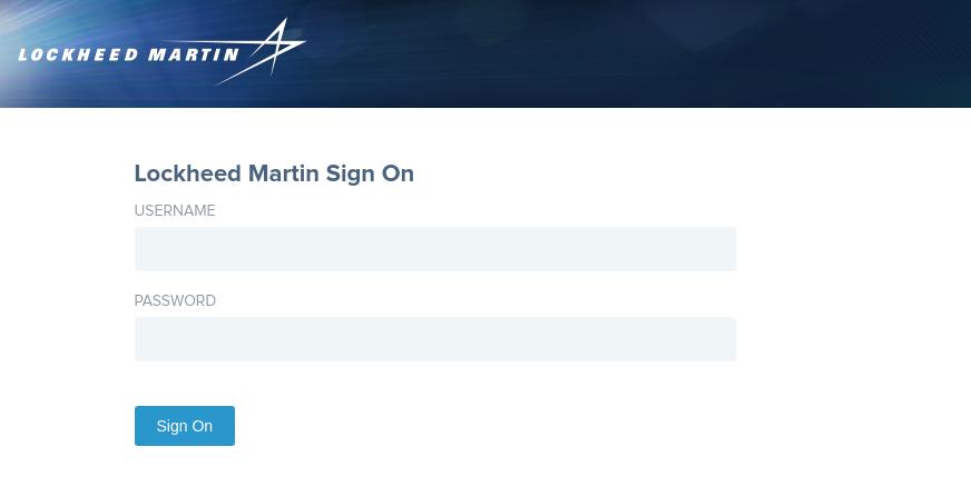 Lockheed Martin Sign On