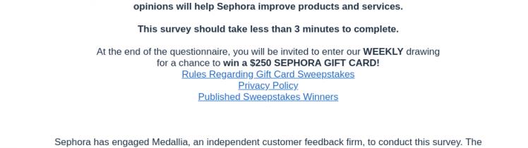 Sephora USA Survey