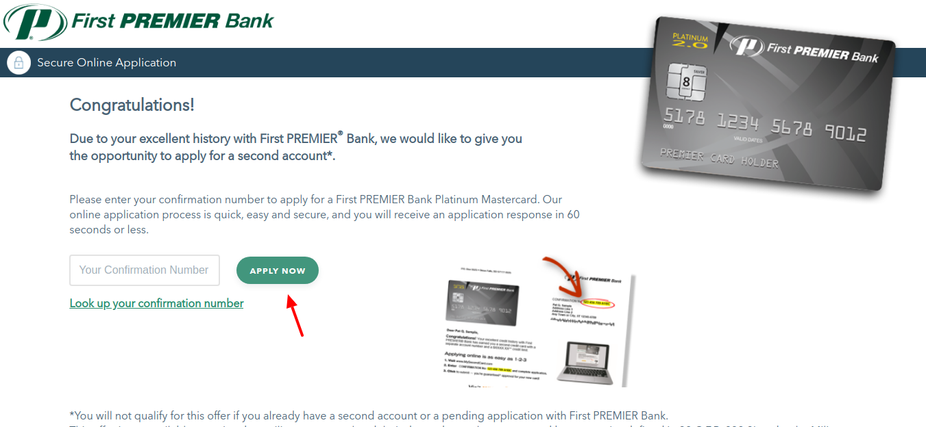 First PREMIER Bank Card Apply