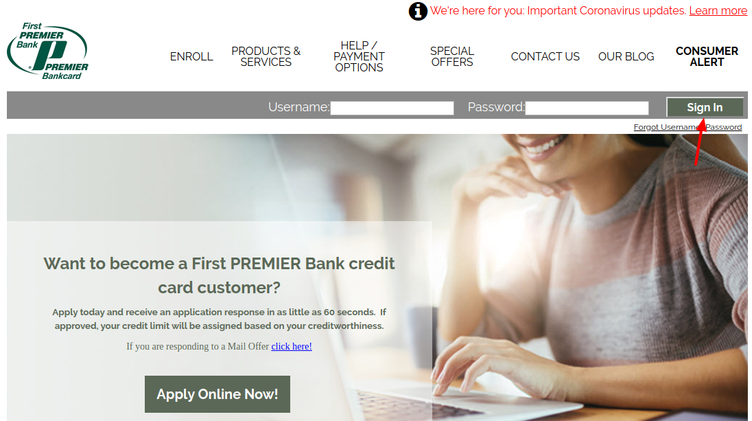 Premier Bank Card Login