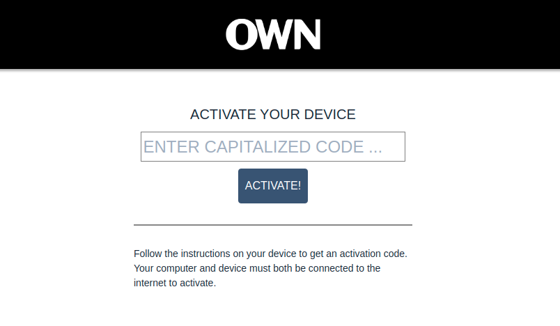 Activate OWN GO