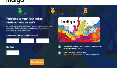 Indigo Platinum MasterCard credit card Apply
