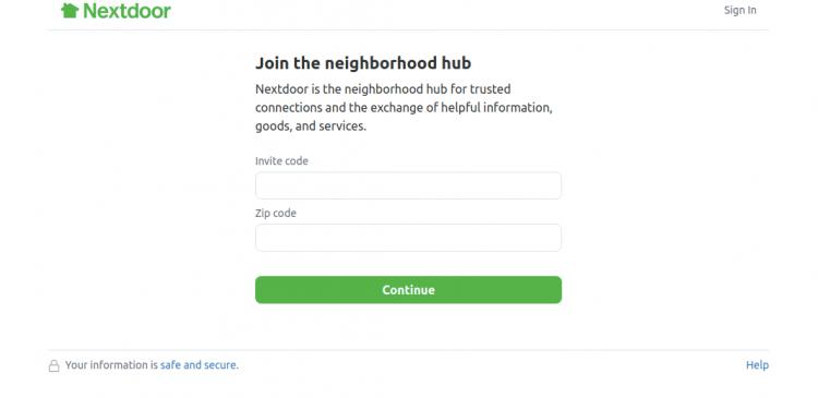 Join Next Door using Invite Code Logo