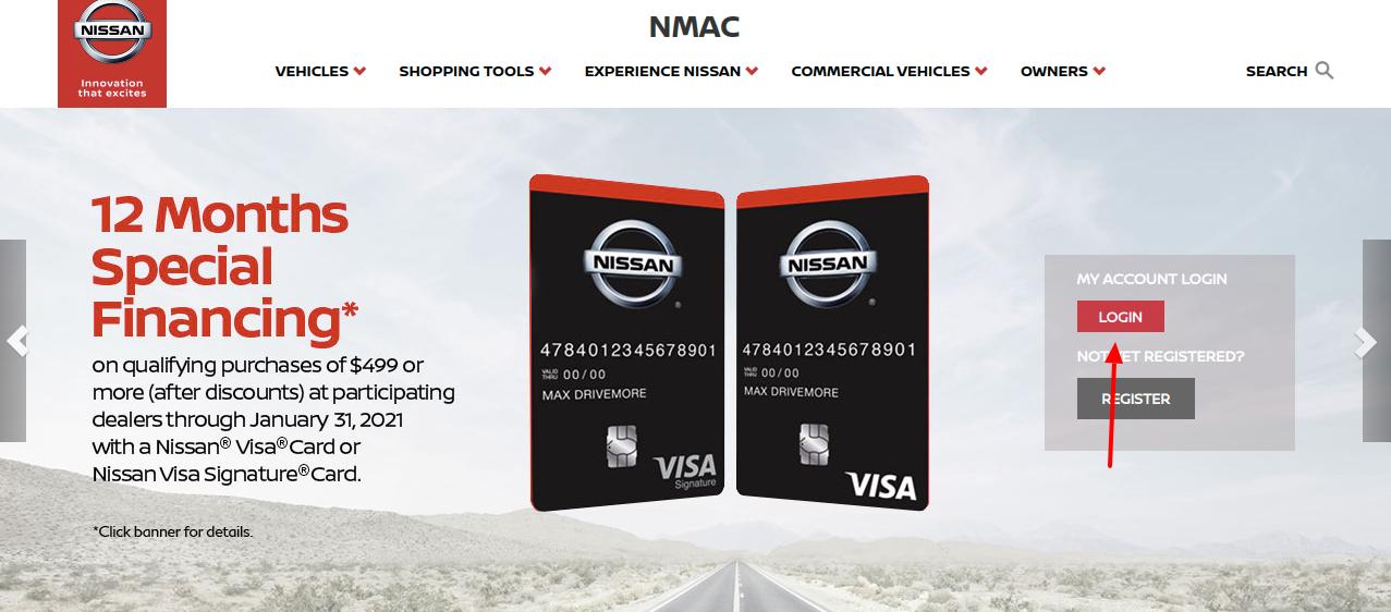 NMAC Finance Account Login