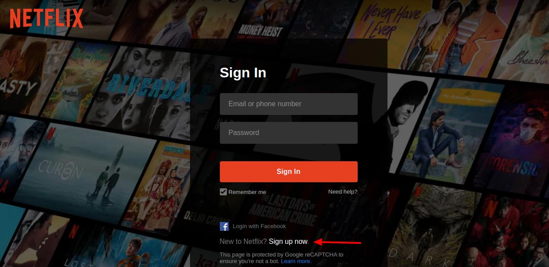 Netflix Sign Up Now