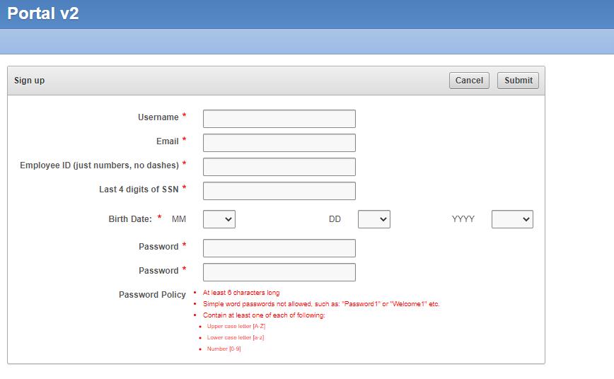 Portal4me Registration