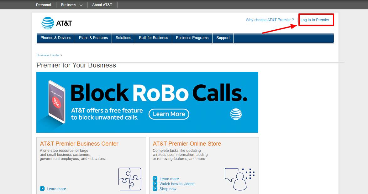 Premier AT&T Wireless Login