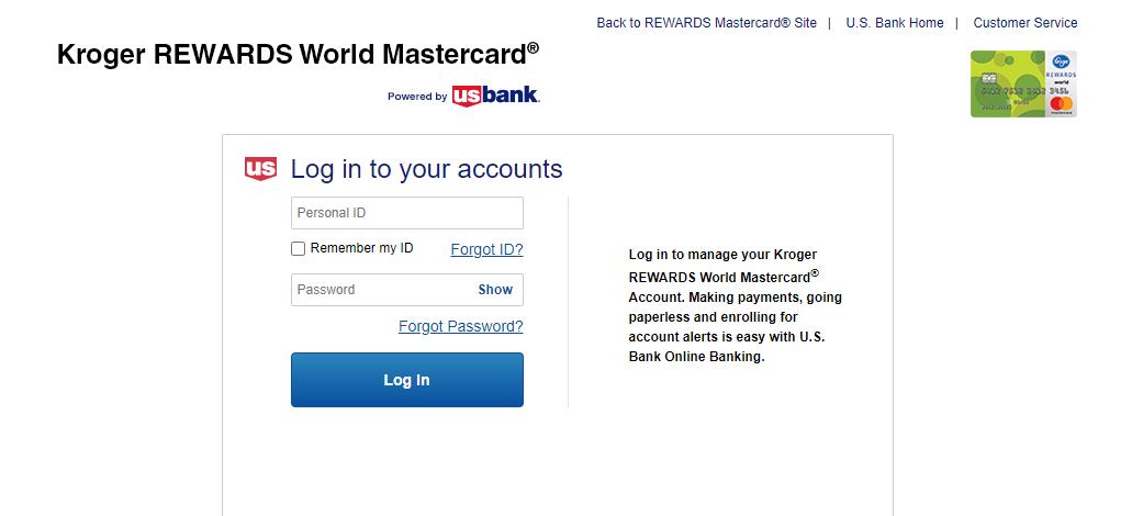 Kroger REWARDS Credit Card Login