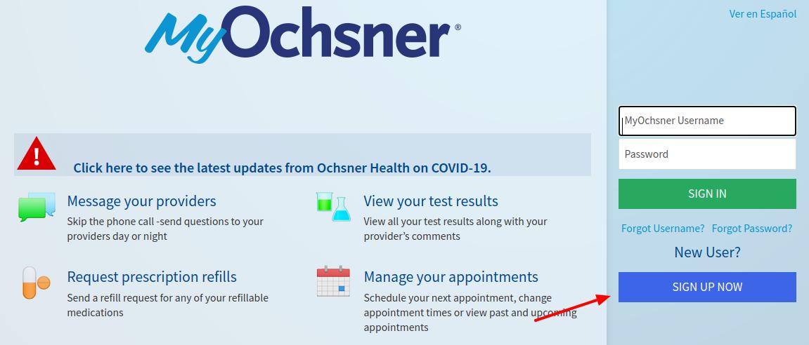 MyOchsner Sign Up