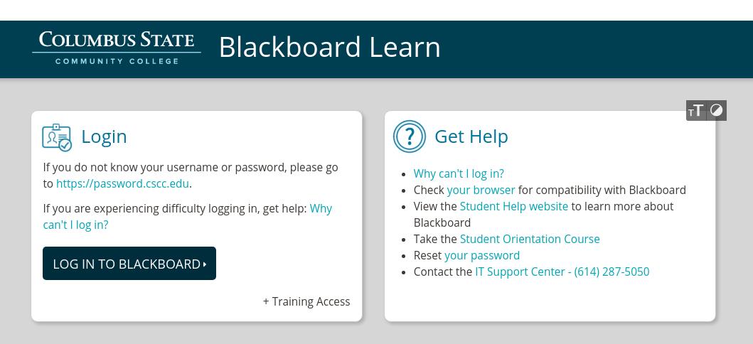 CSCC Blackboard Login