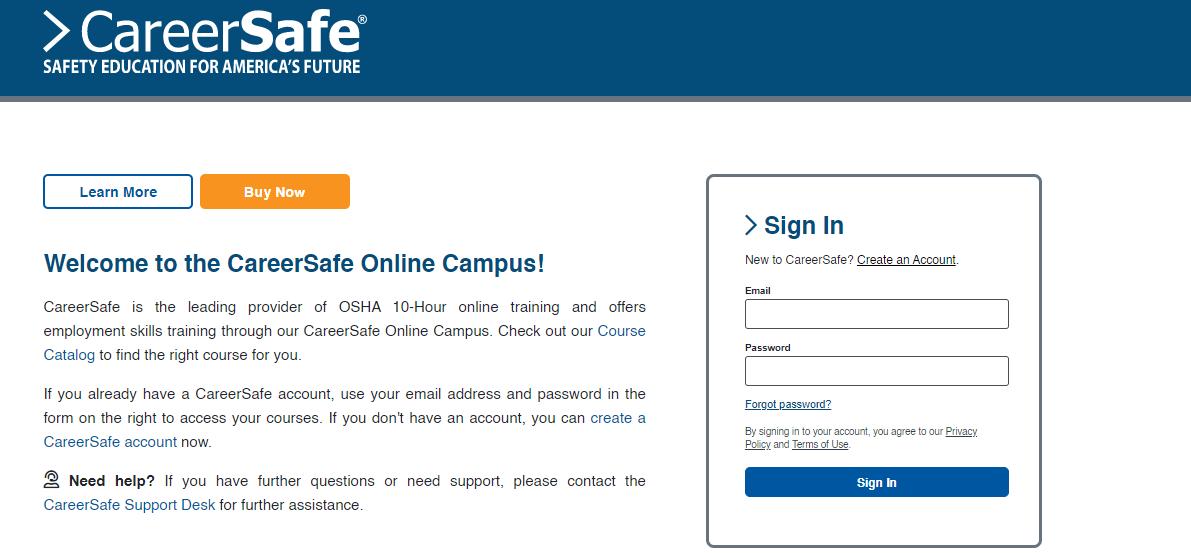 Career Safe Campus Login