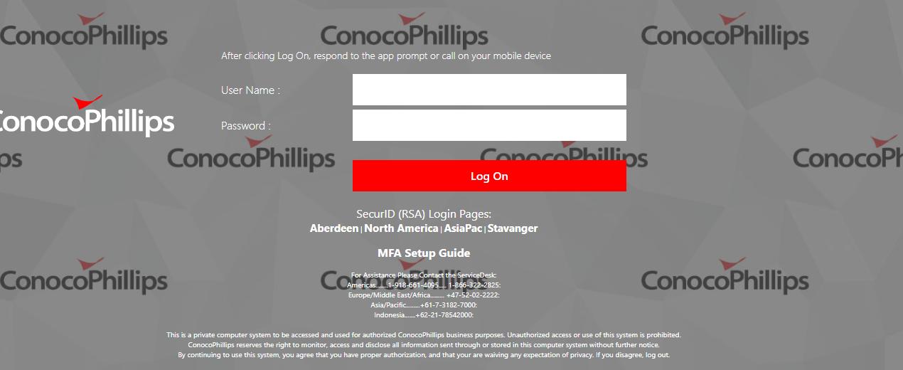 ConocoPhillips login guide