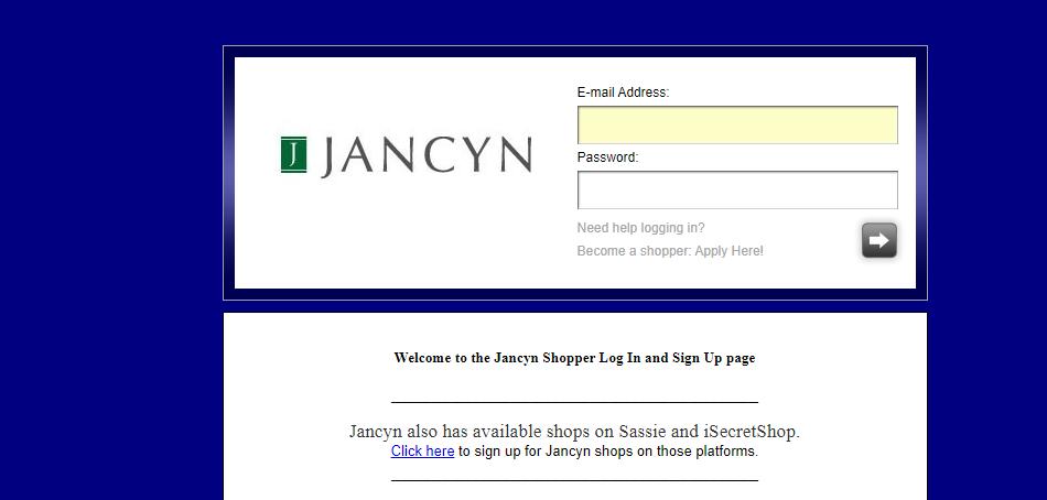 Jancyn Mystery Shopper Login