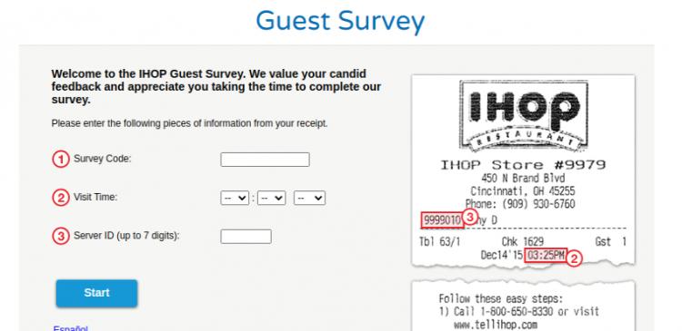 IHOP Voice Survey