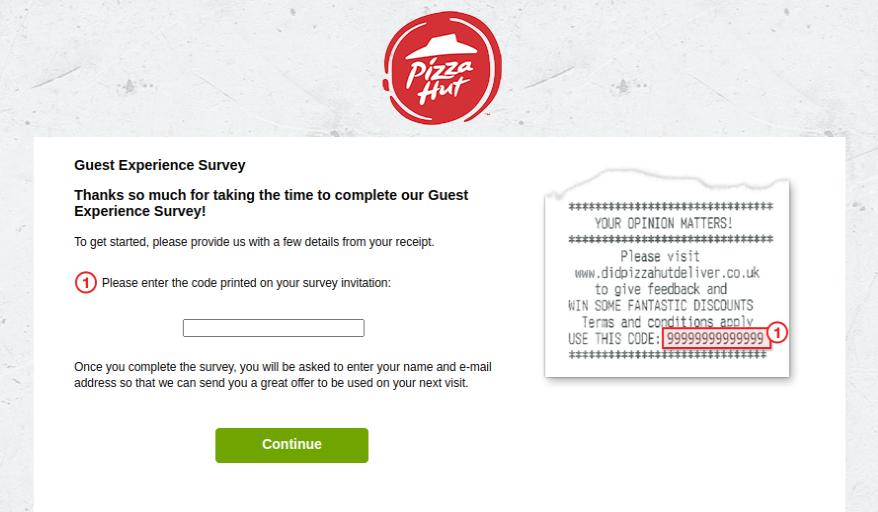 Pizza Hut Survey