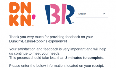 dunkin baskin robbins survey