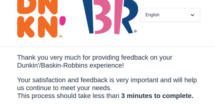 dunkin baskin robbins survey