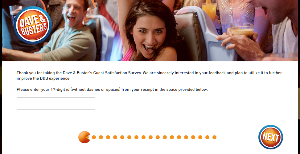 Dave Busters Survey