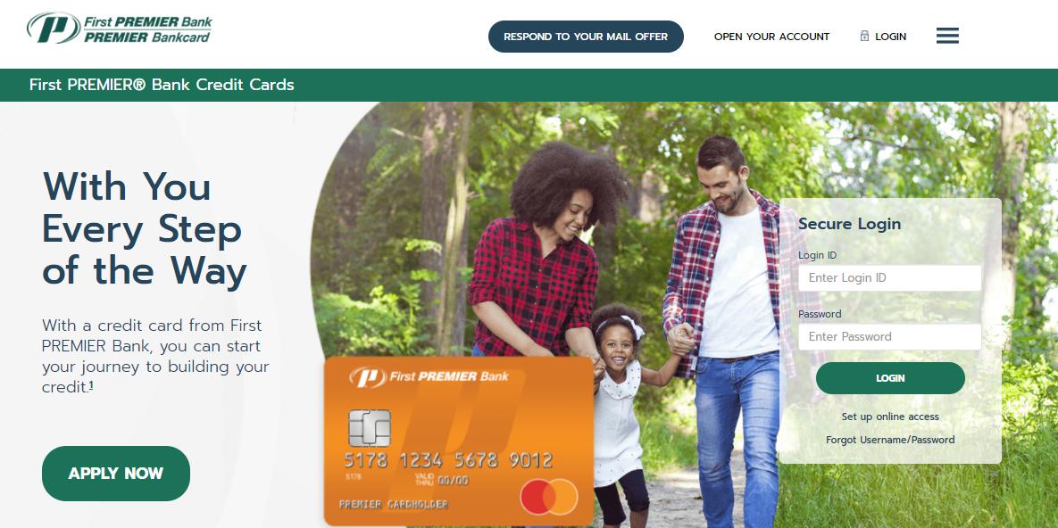 premier credit card login
