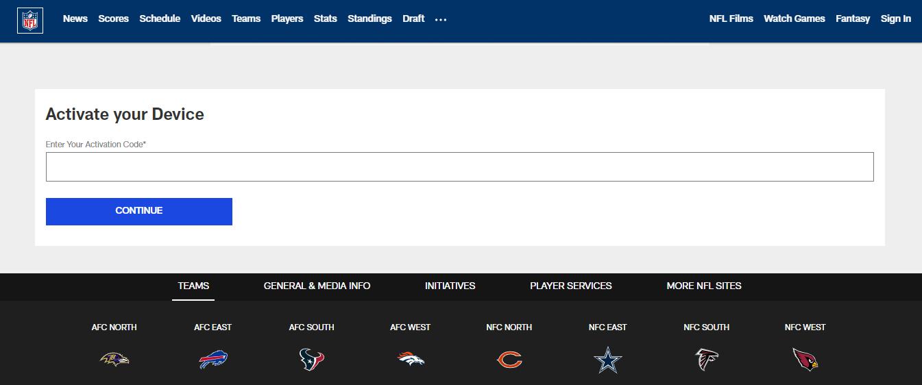 NFL account activate