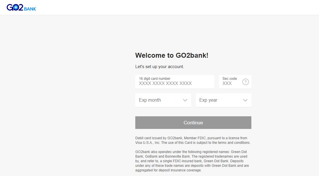 GO2Bank Debit Card Activate