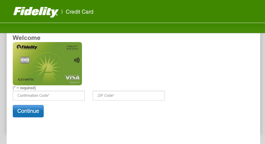 fidelity credit card application