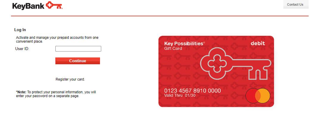 keybank gift card login
