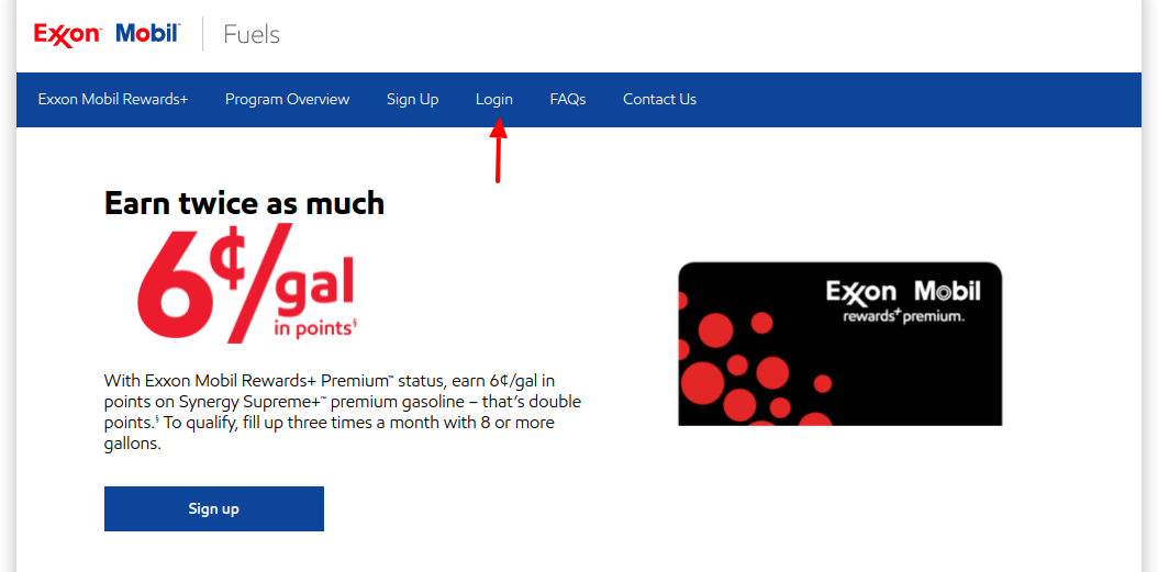 exxon mobil rewards login