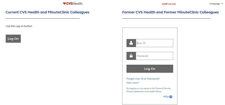 myhr cvs employee login